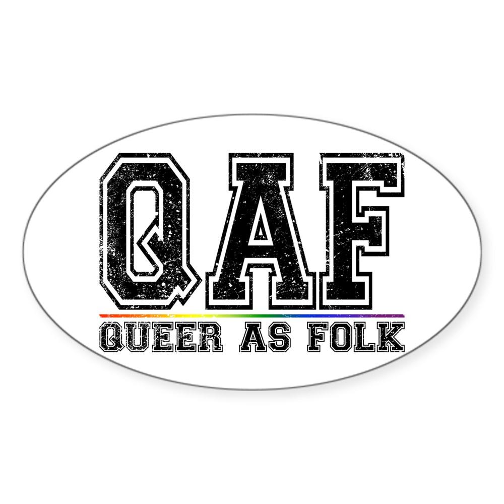 QAF Queer as Folk Oval Sticker