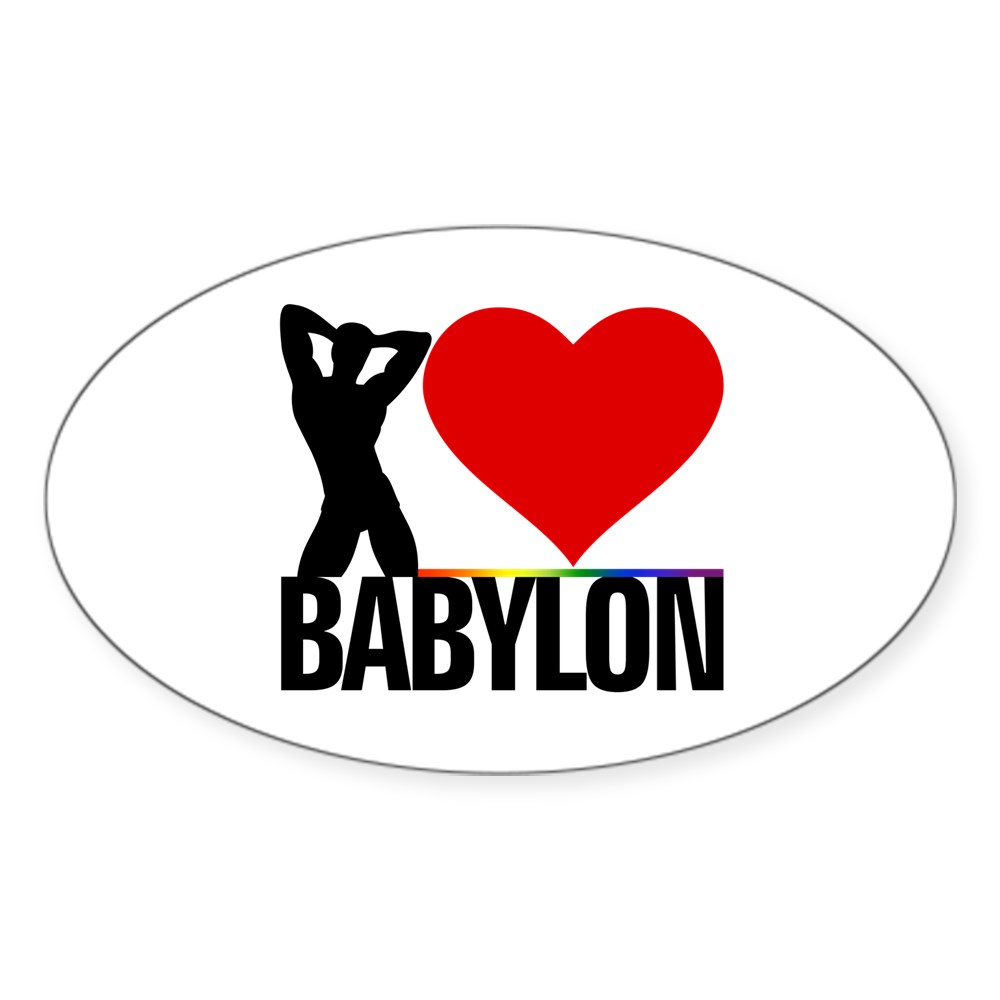 I Heart Babylon Oval Sticker