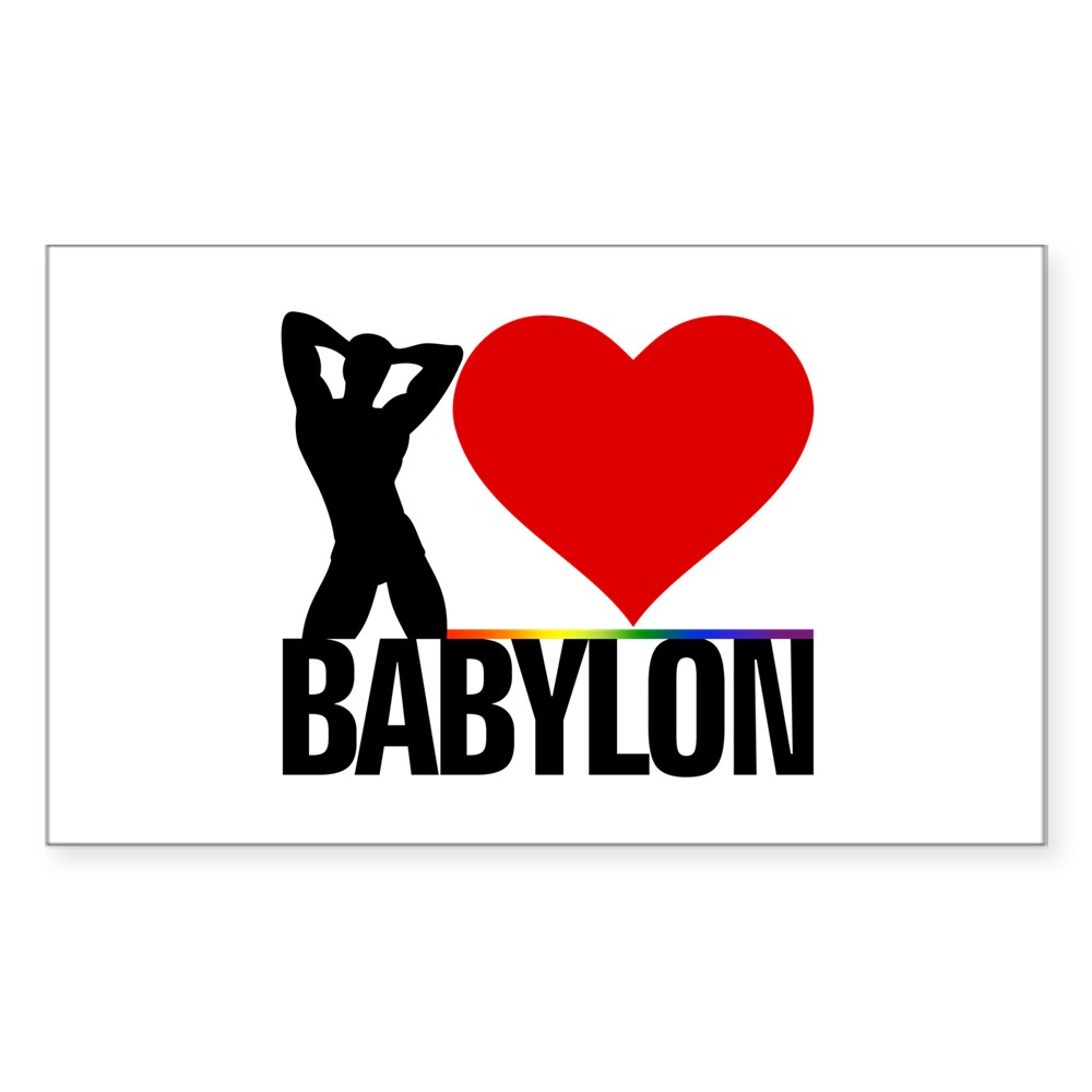 I Heart Babylon Rectangle Sticker