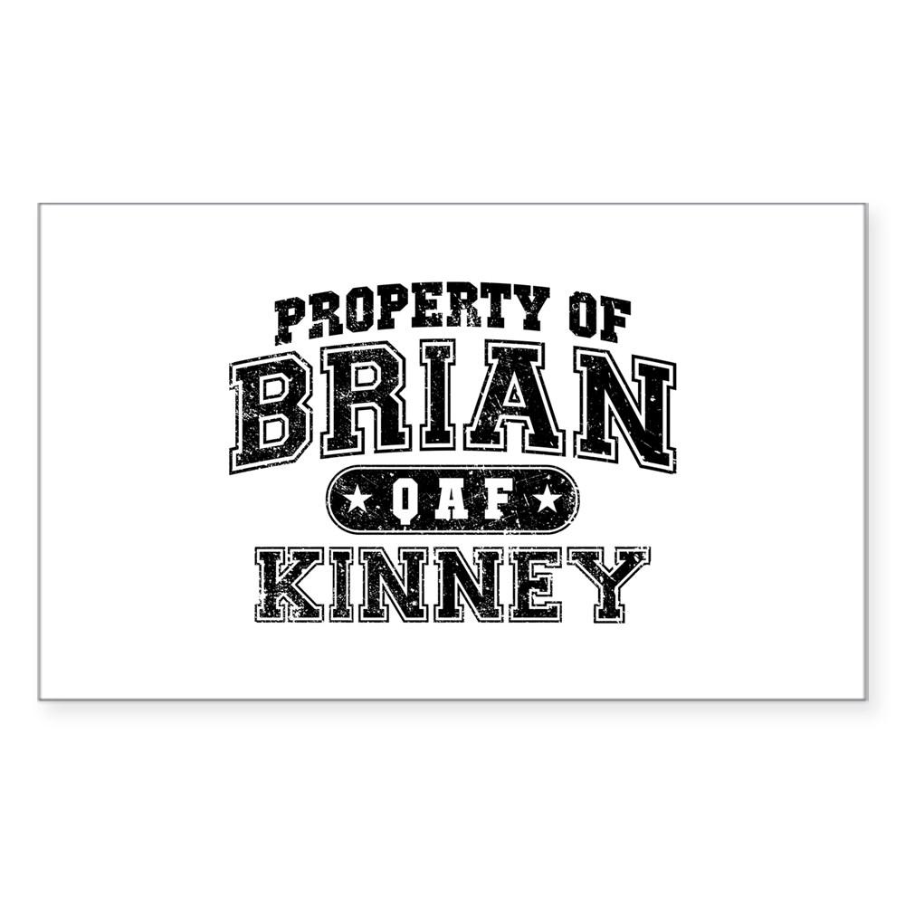 Property of Brian Kinney Rectangle Sticker