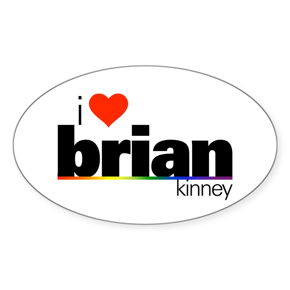I Heart Brian Kinney Oval Sticker