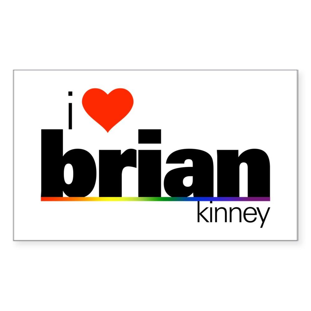 I Heart Brian Kinney Rectangle Sticker