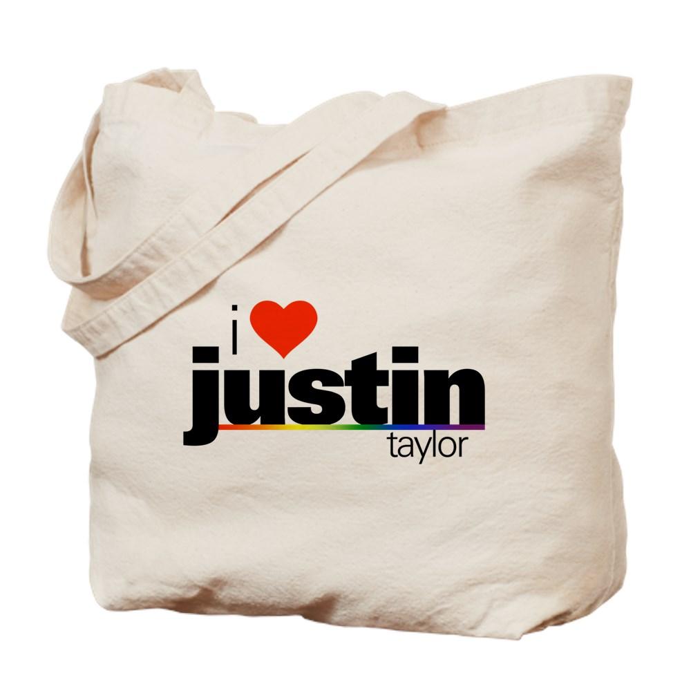 I Heart Justin Taylor Tote Bag