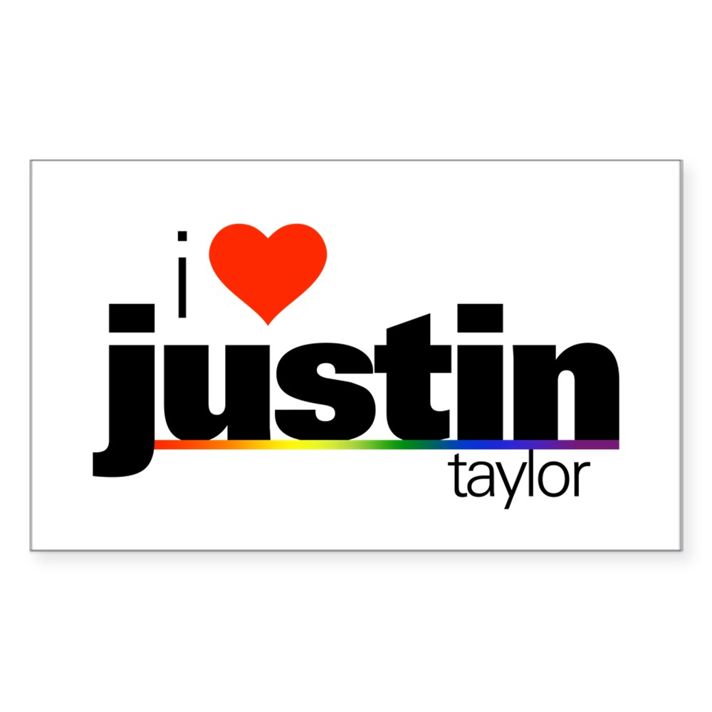 I Heart Justin Taylor Rectangle Sticker