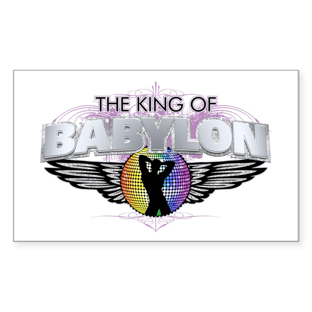 The King of Babylon Rectangle Sticker