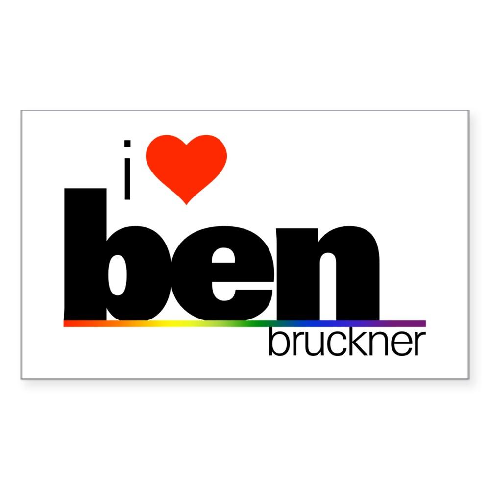 I Heart Ben Bruckner Rectangle Sticker