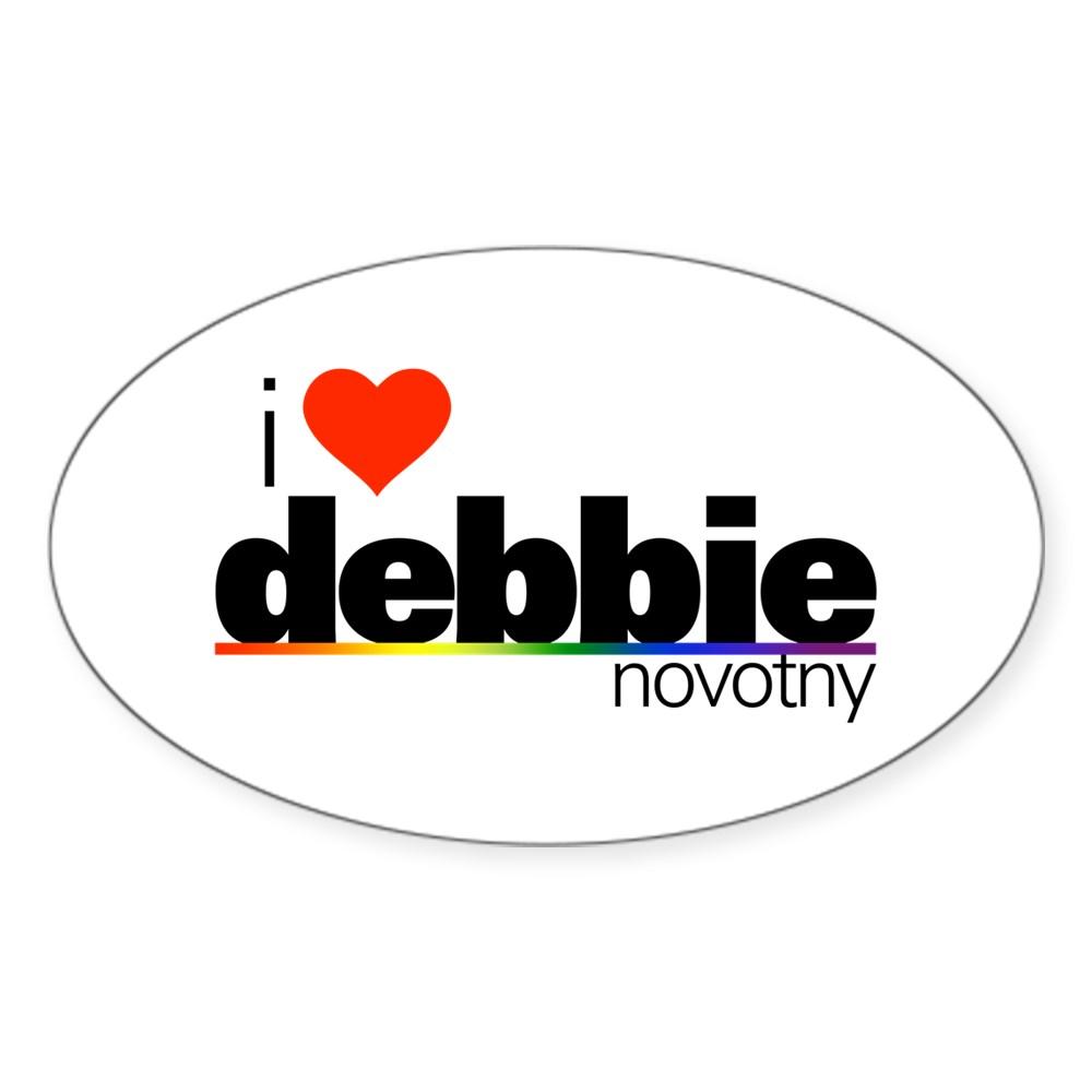 I Heart Debbie Novotny Oval Sticker