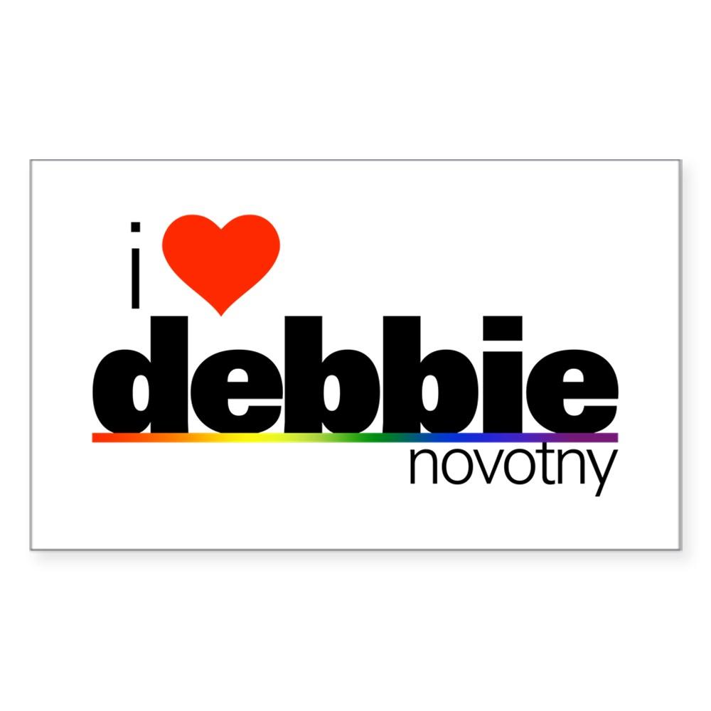 I Heart Debbie Novotny Rectangle Sticker