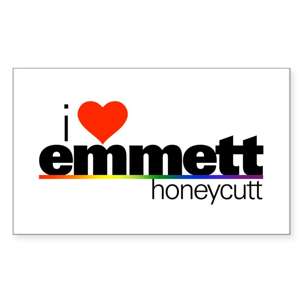 I Heart Emmett Honeycutt Rectangle Sticker