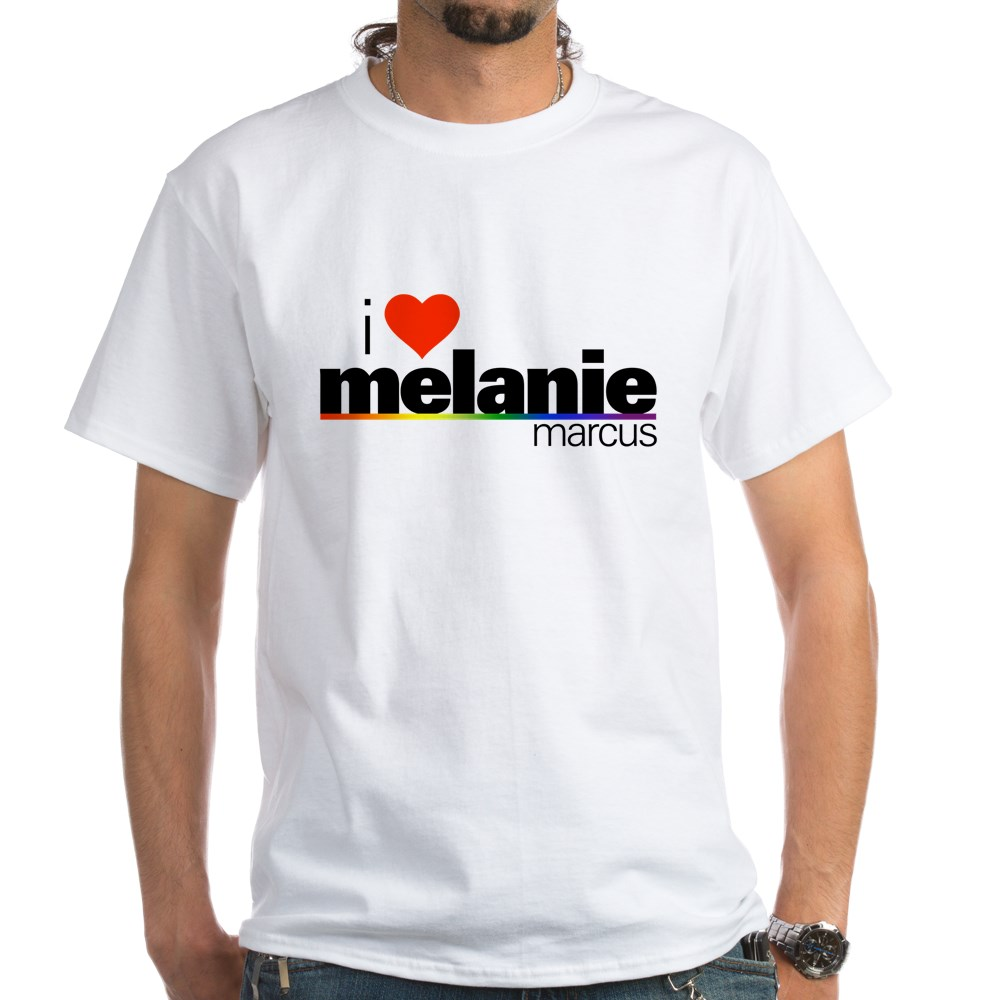 I Heart Melanie Marcus White T-Shirt