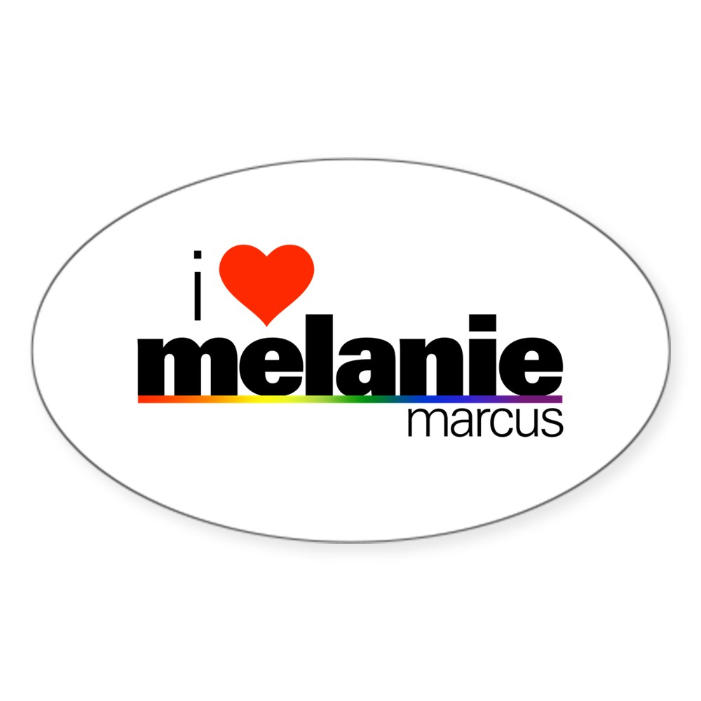 I Heart Melanie Marcus Oval Sticker