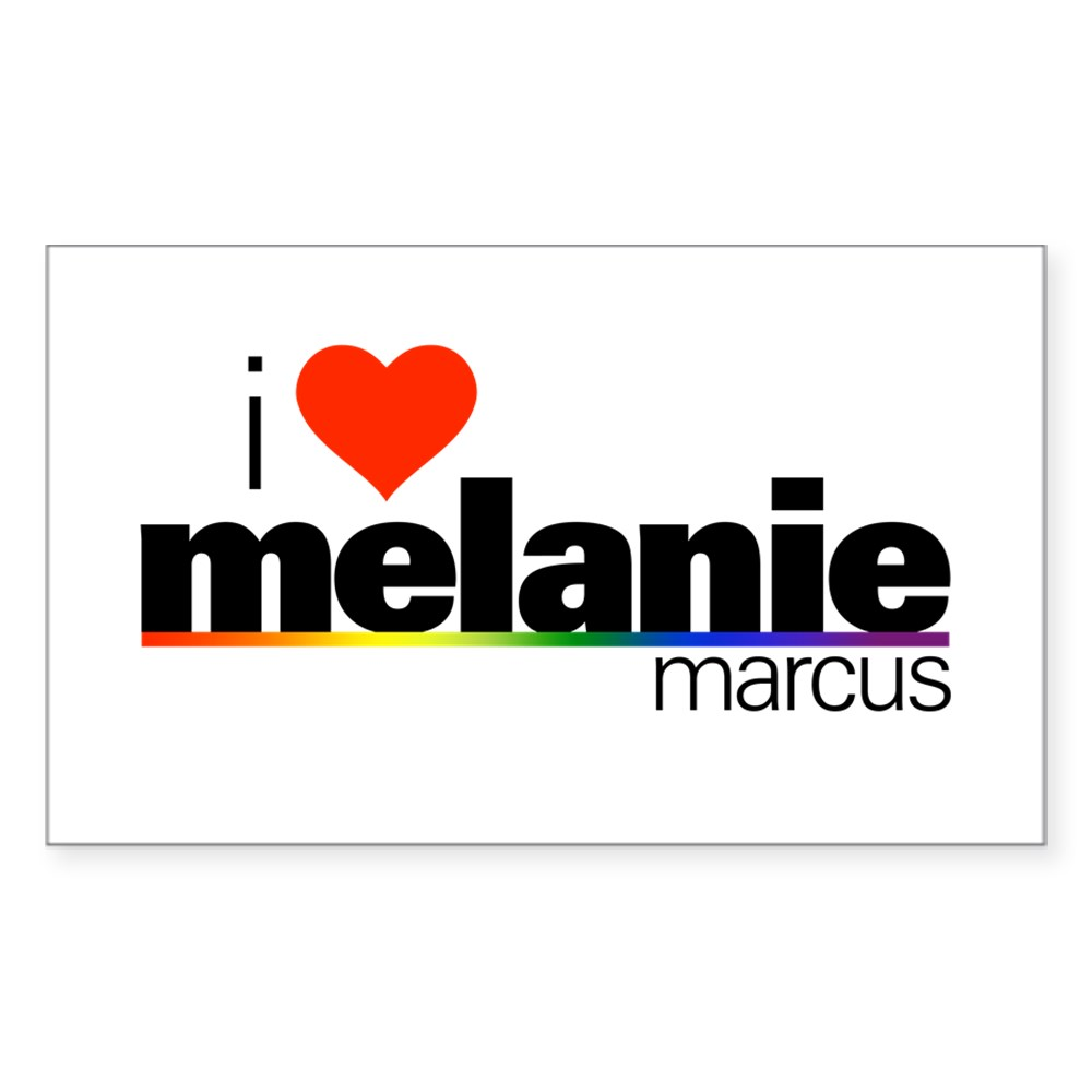 I Heart Melanie Marcus Rectangle Sticker
