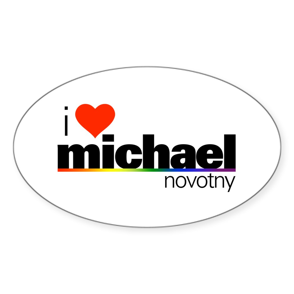 I Heart Michael Novotny Oval Sticker