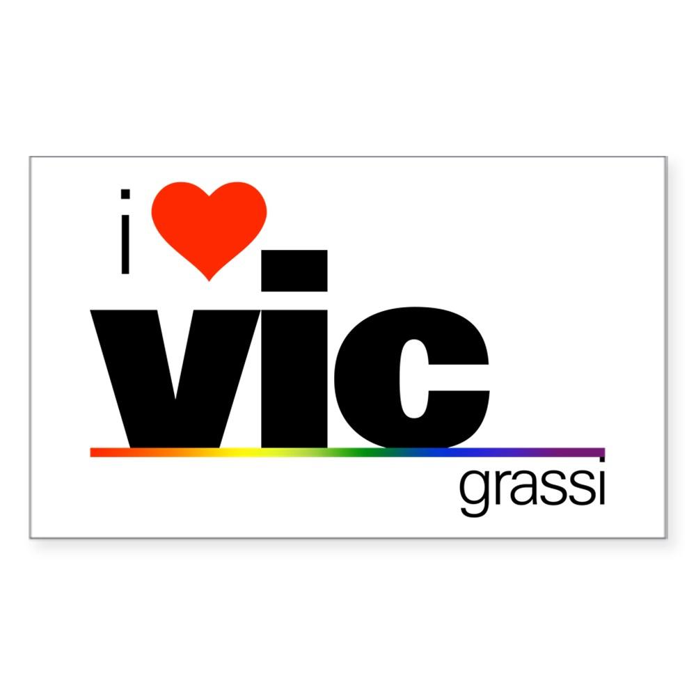I Heart Vic Grassi Rectangle Sticker