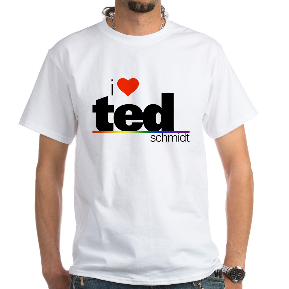I Heart Ted Schmidt White T-Shirt