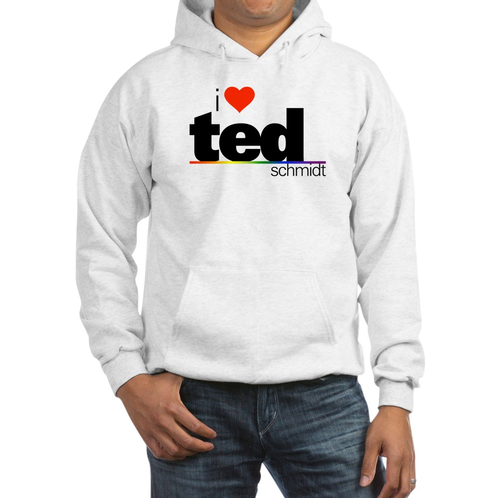 I Heart Ted Schmidt Hooded Sweatshirt
