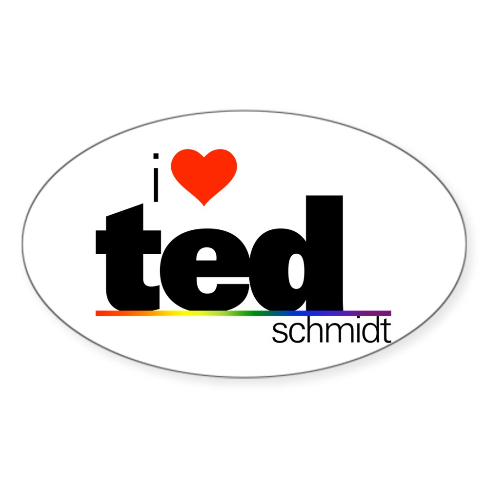 I Heart Ted Schmidt Oval Sticker