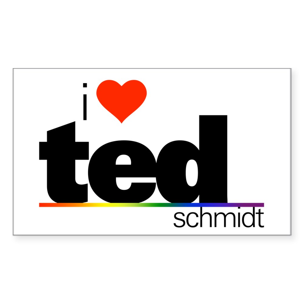 I Heart Ted Schmidt Rectangle Sticker