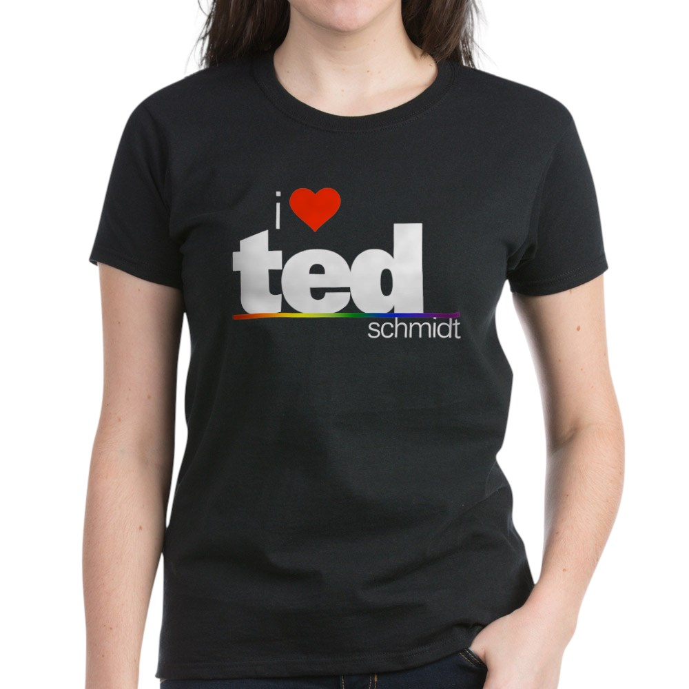 I Heart Ted Schmidt Women's Dark T-Shirt