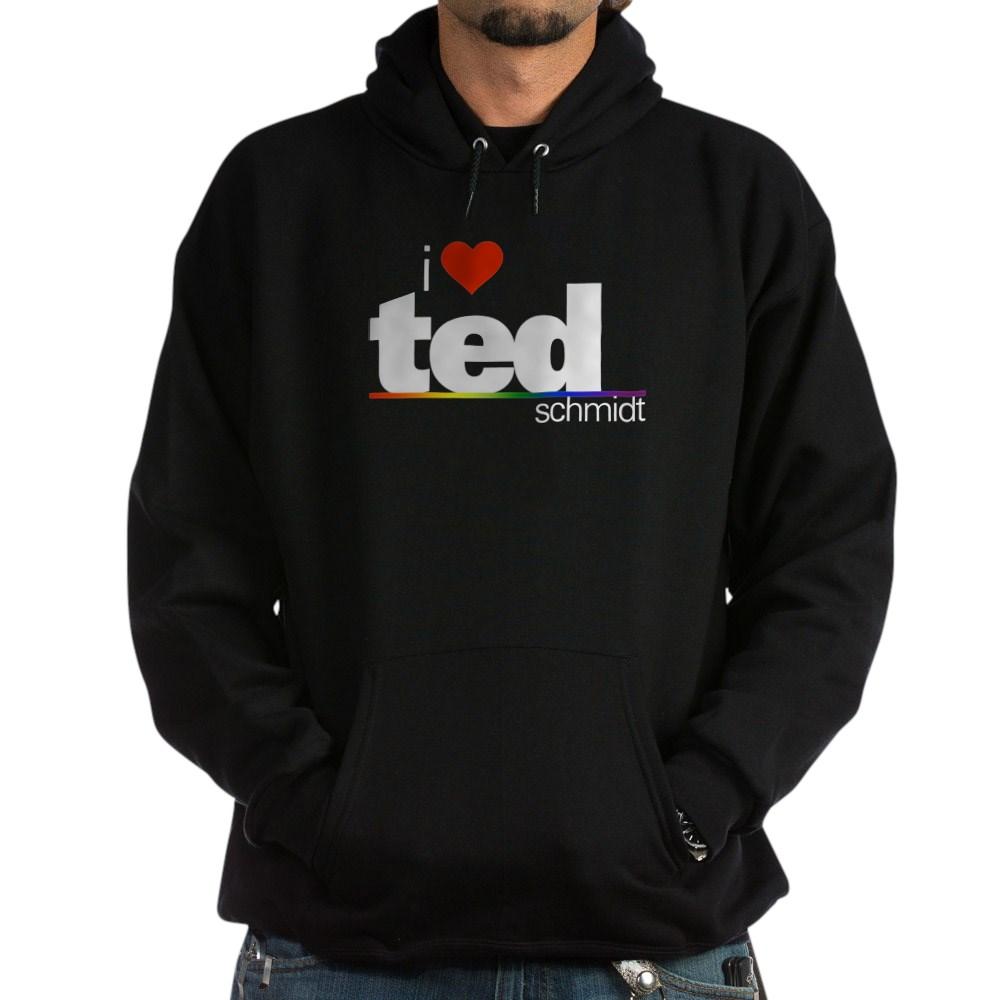 I Heart Ted Schmidt Dark Hoodie