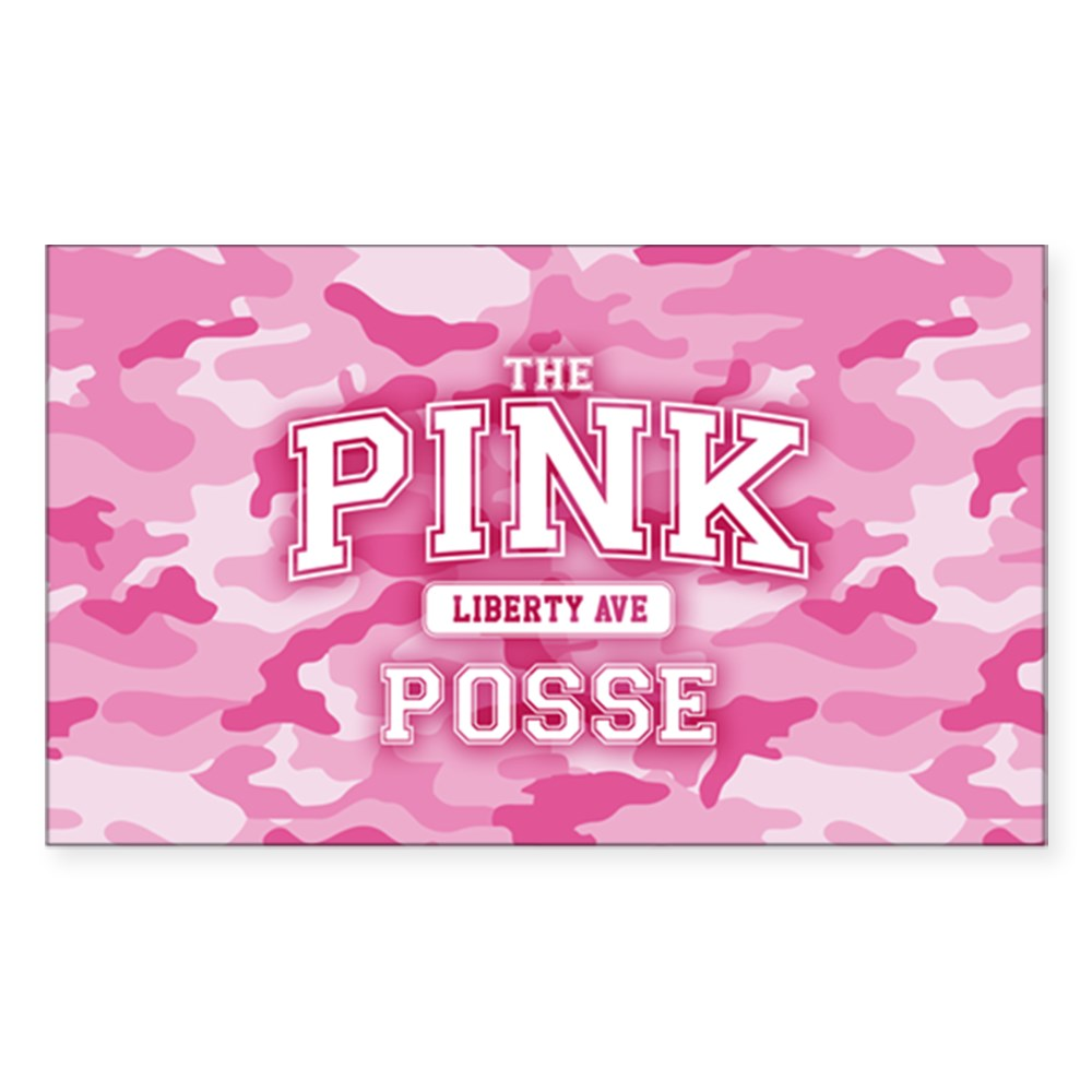 The Pink Posse Rectangle Sticker