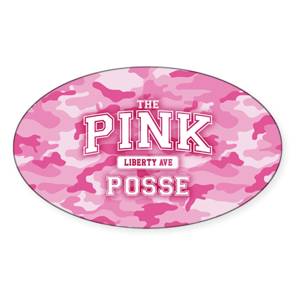 The Pink Posse Oval Sticker