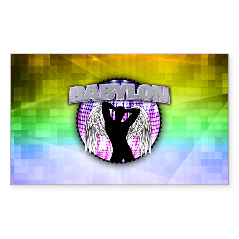 Babylon Rectangle Sticker