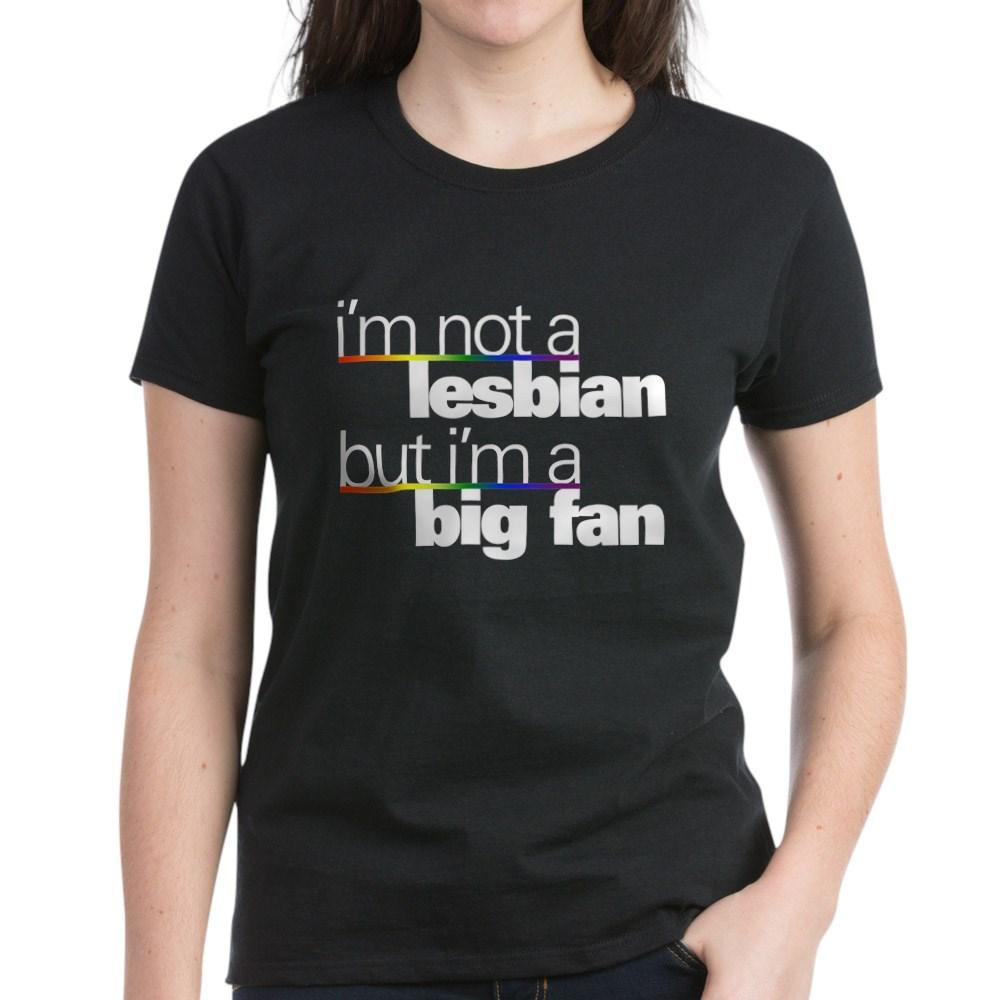 Not a Lesbian Women's Dark T-Shirt