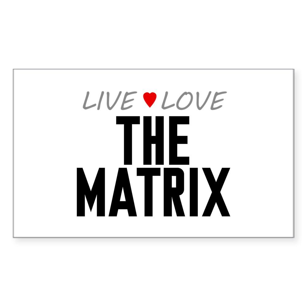 Live Love The Matrix Rectangle Sticker