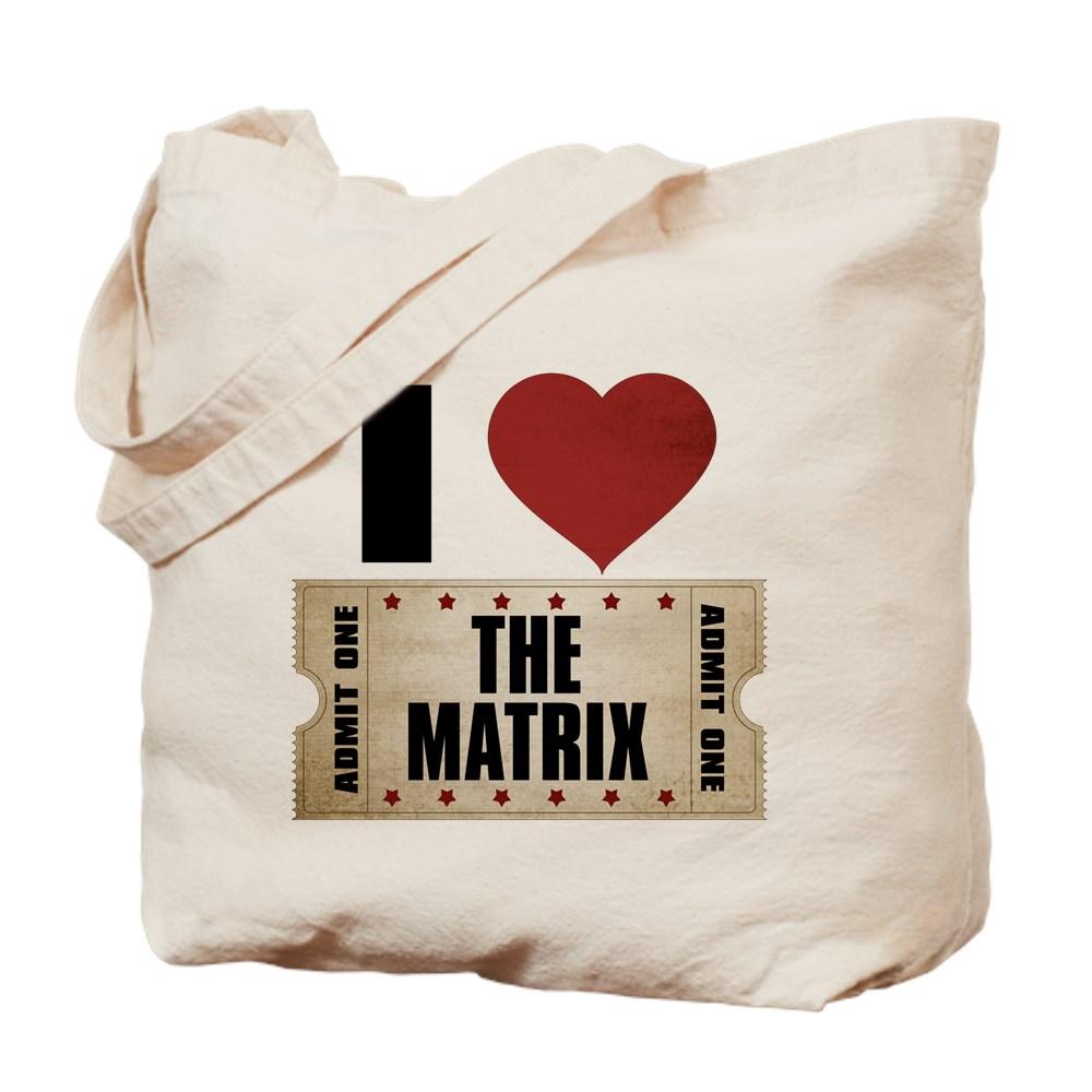 I Heart The Matrix Ticket Tote Bag