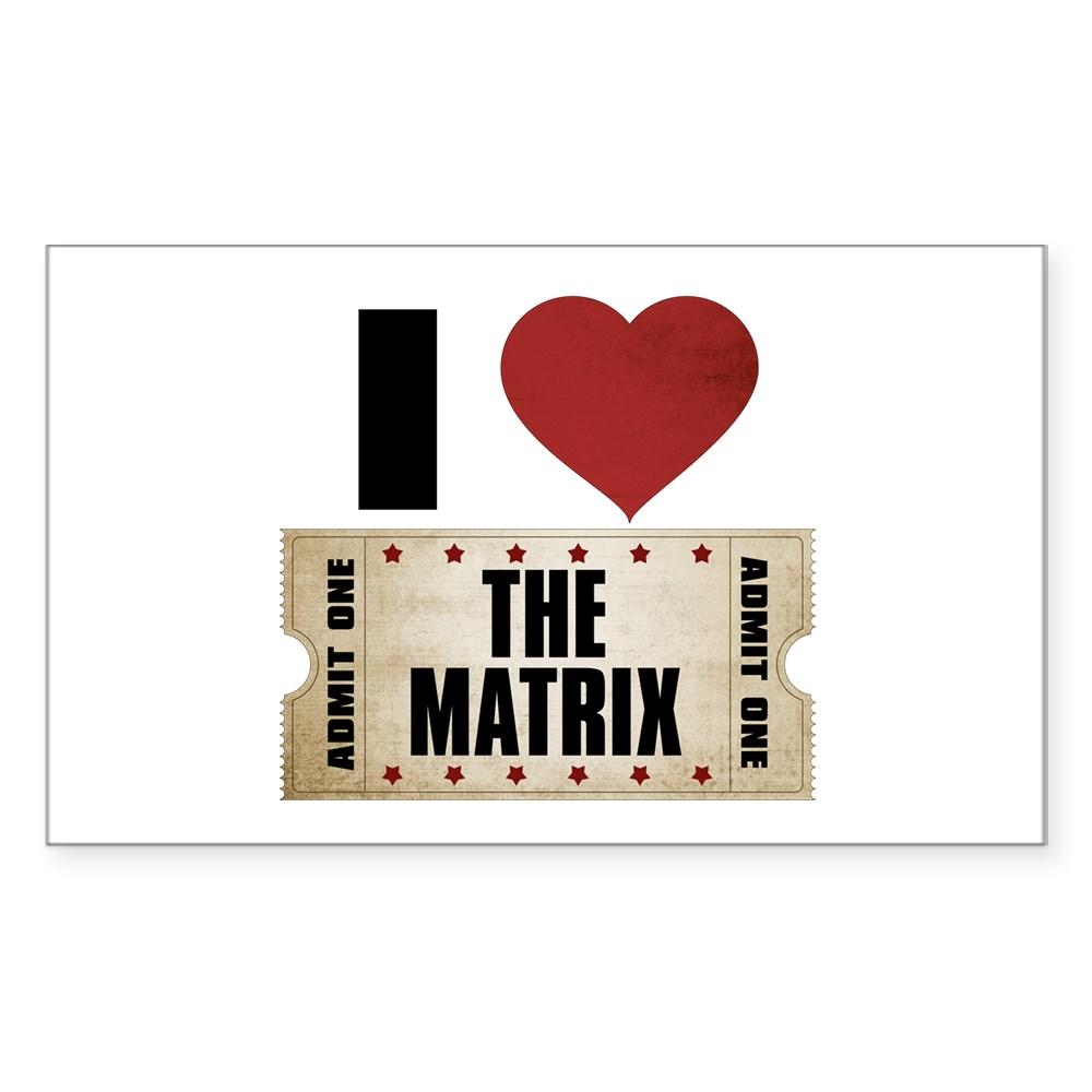 I Heart The Matrix Ticket Rectangle Sticker