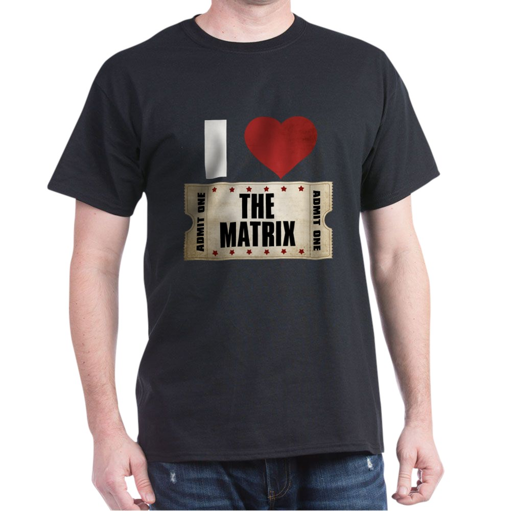 I Heart The Matrix Ticket Dark T-Shirt