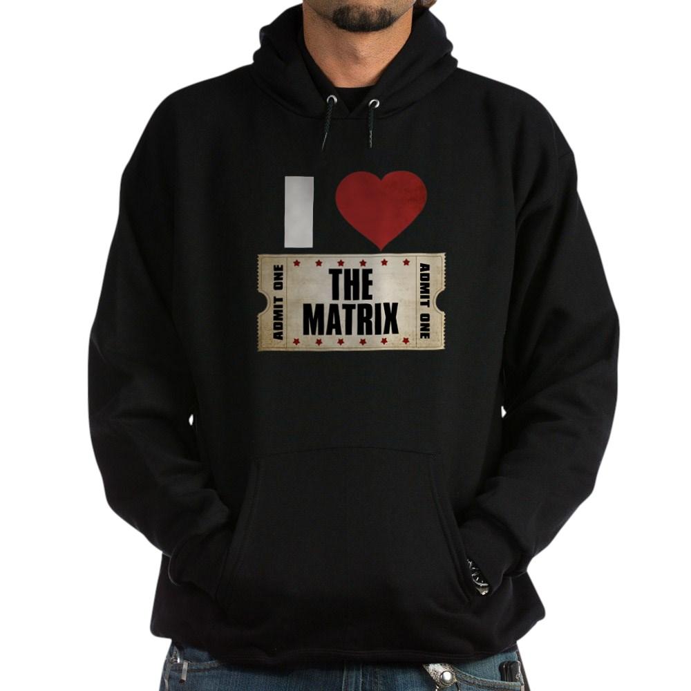 I Heart The Matrix Ticket Dark Hoodie