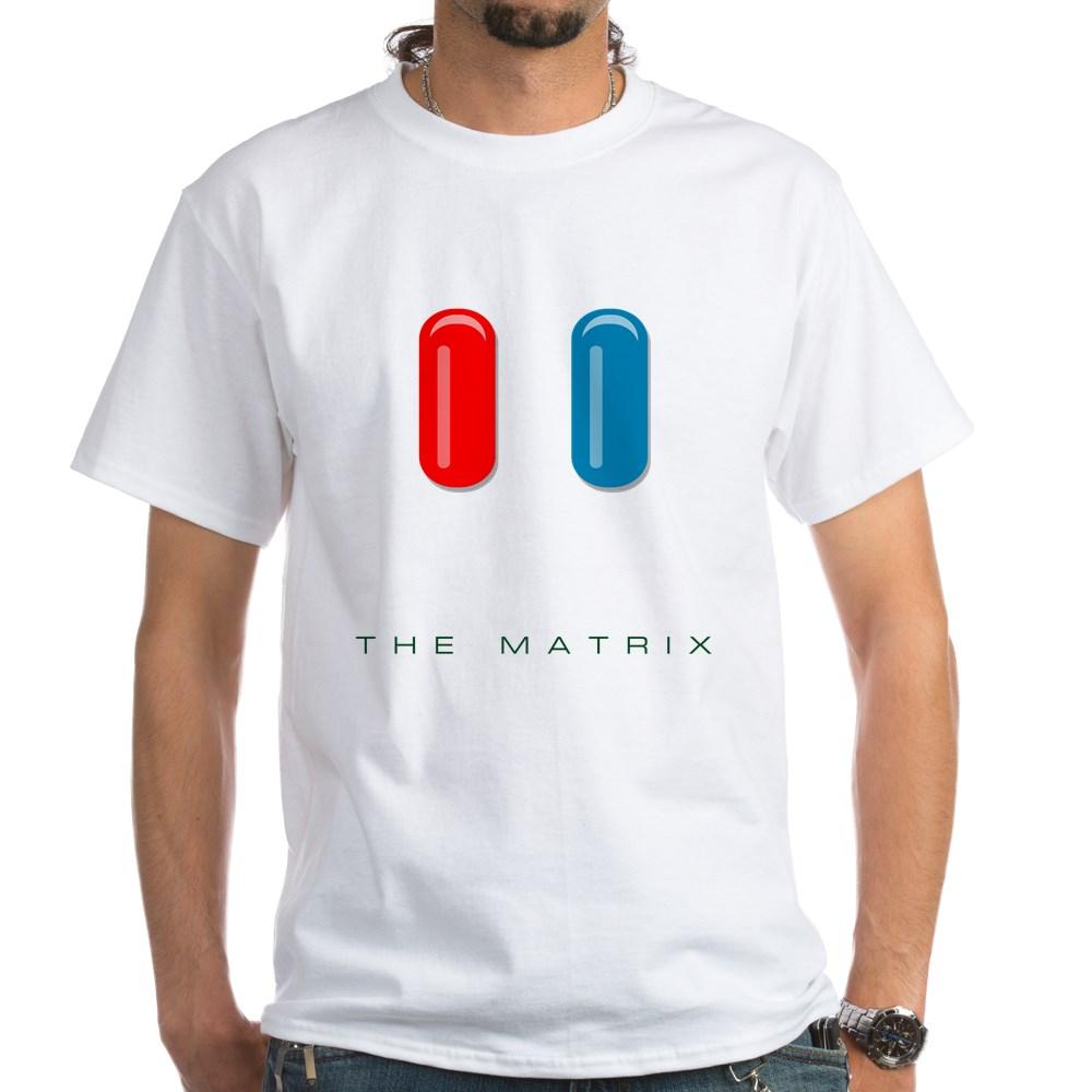 Red Pill, Blue Pill White T-Shirt