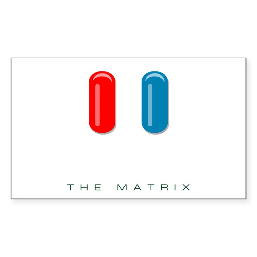 Red Pill, Blue Pill Rectangle Sticker