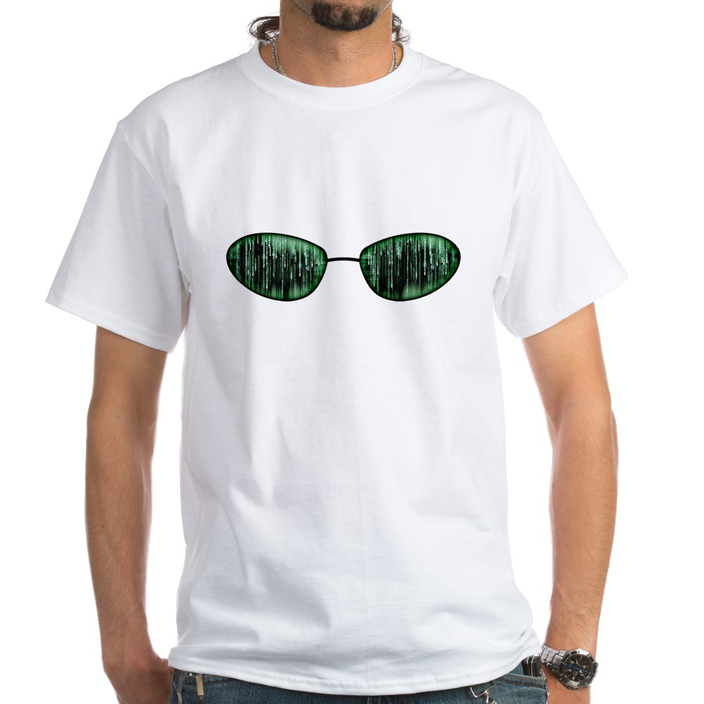 Neo Glasses White T-Shirt