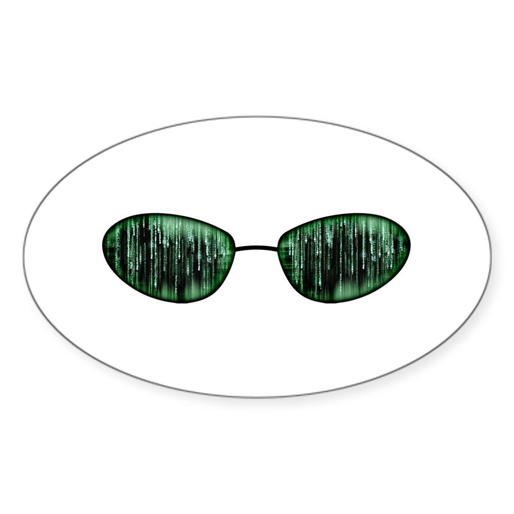 Neo Glasses Oval Sticker