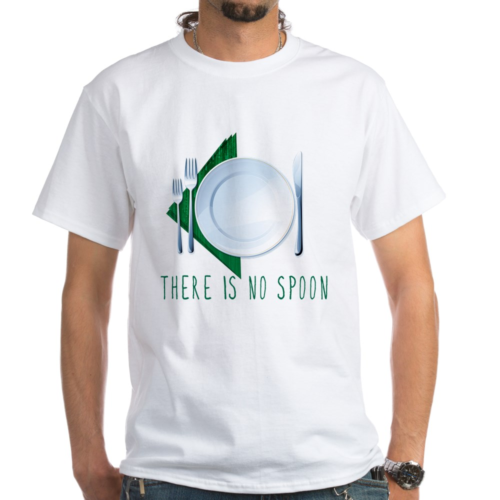 No Spoon Spoof White T-Shirt