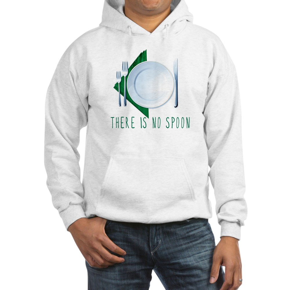 No Spoon Spoof Hooded Sweatshirt
