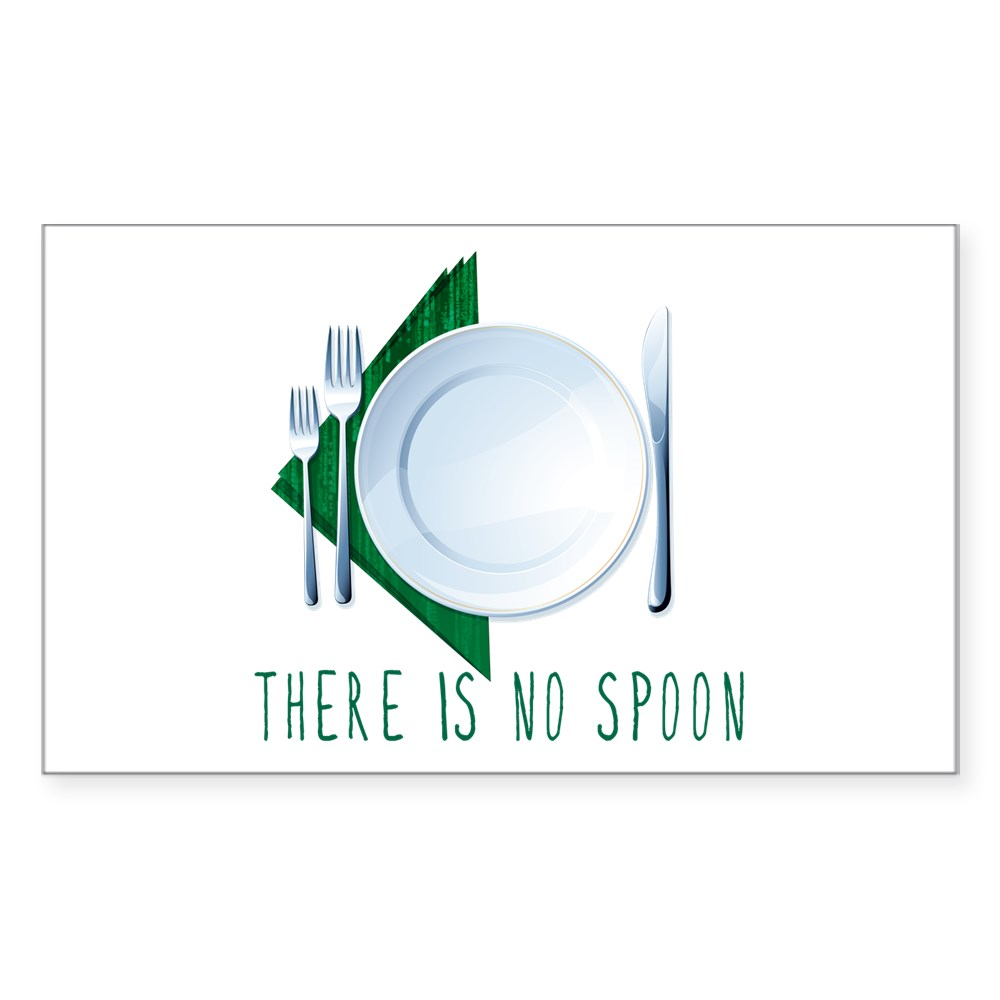 No Spoon Spoof Rectangle Sticker
