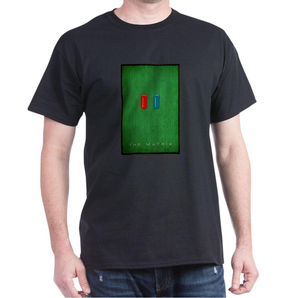 Minimalist The Matrix Poster Dark T-Shirt