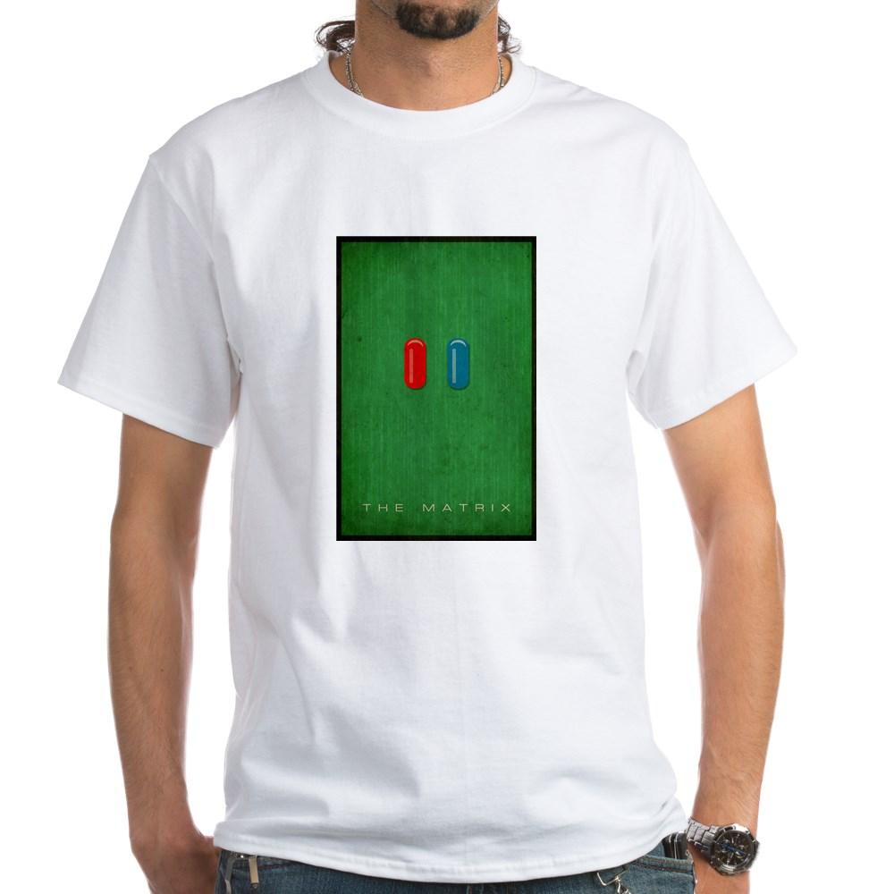 Minimalist The Matrix Poster White T-Shirt