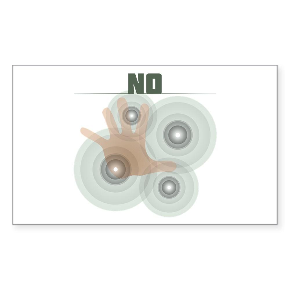 No Rectangle Sticker