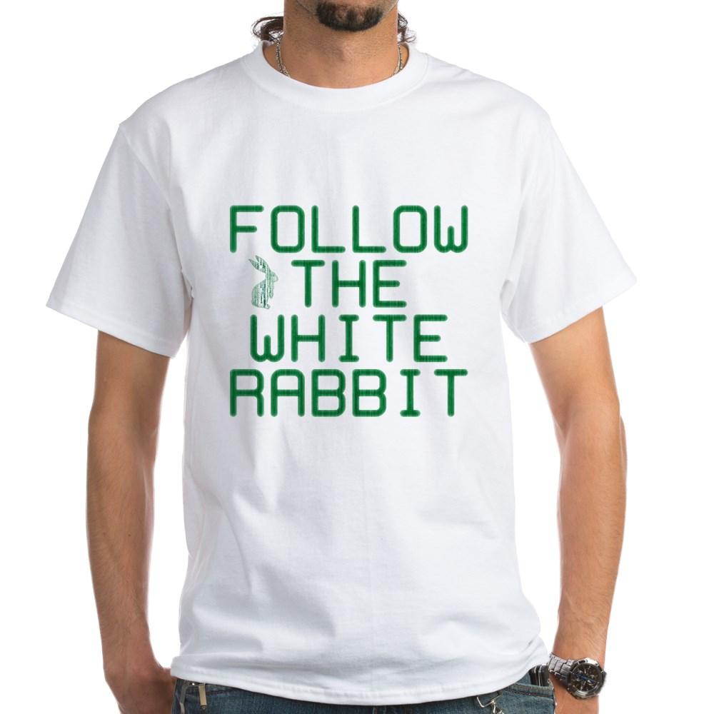 Follow the White Rabbit White T-Shirt