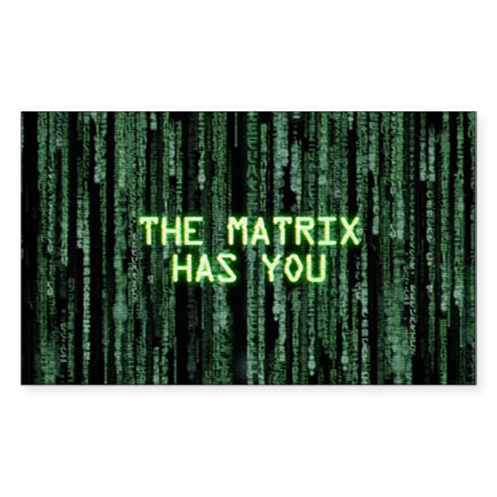 The Matrix Has You Rectangle Sticker