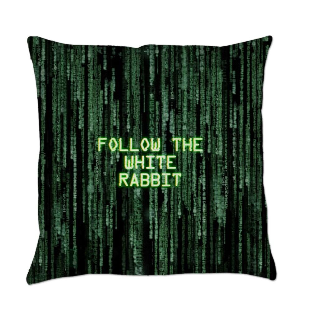 Follow the White Rabbit Everyday Pillow