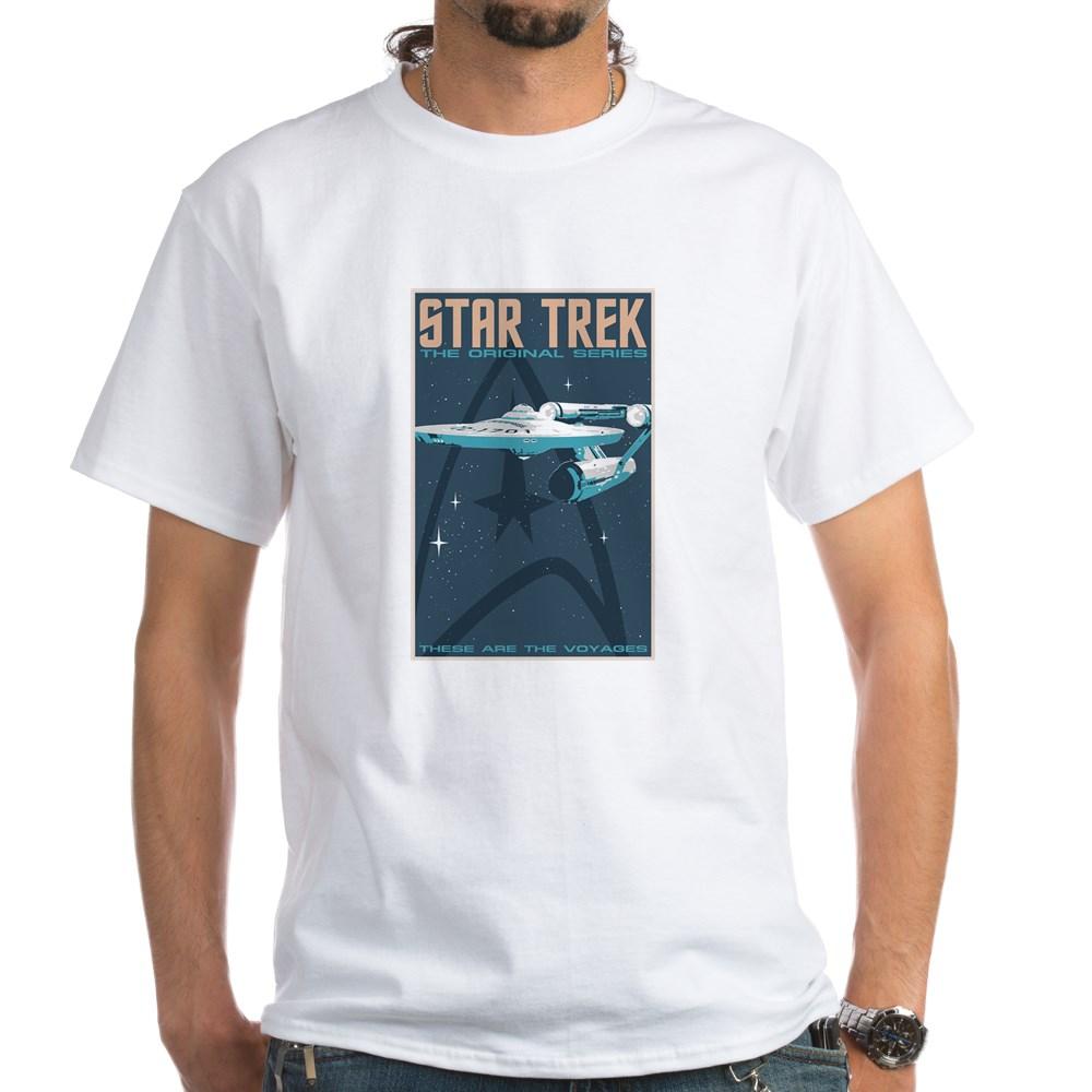 Retro Star Trek: TOS Poster White T-Shirt