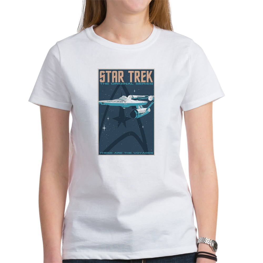 Retro Star Trek: TOS Poster Women's T-Shirt