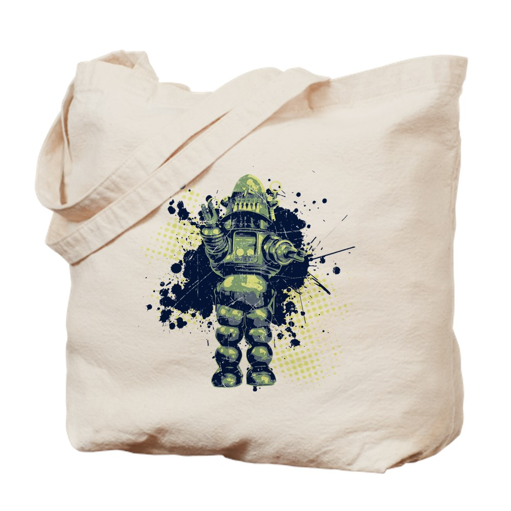 Distressed Robby the Robot Tote Bag