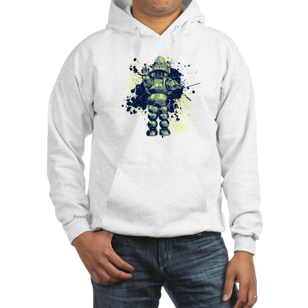 Distressed Robby the Robot Hooded Sweatshirt
